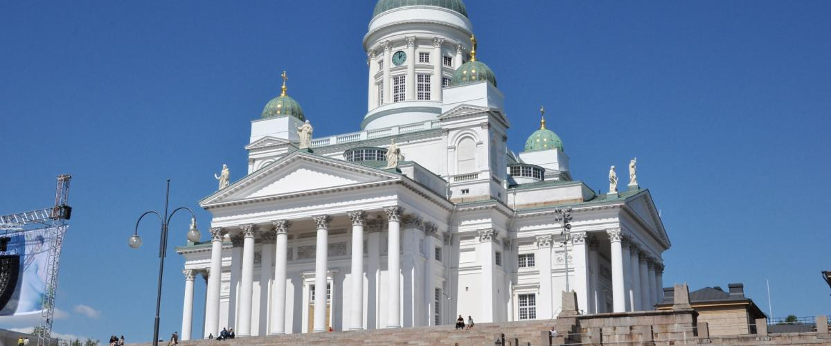 Helsinki, Finland, Sightseeing tour in bus