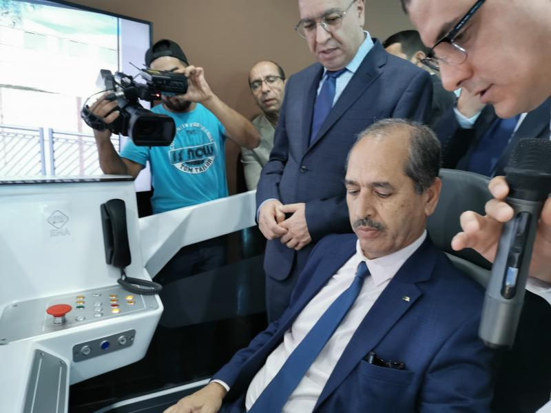 Setram - Minister of Public Works and Transports of Algeria - Wali of Algiers - RATP Dev - tramway driving simulator