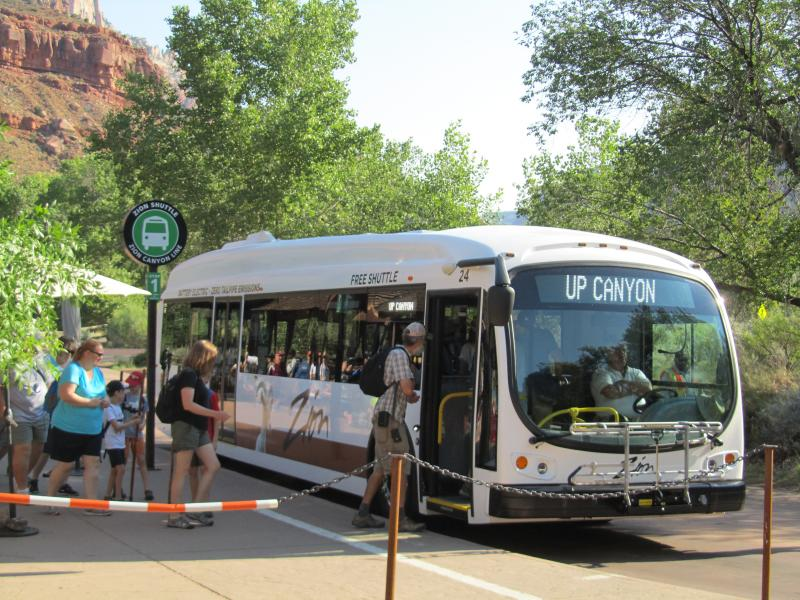 Electric bus Zion Park RATP Dev